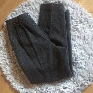 Vintage Wool High Waisted Work Pants